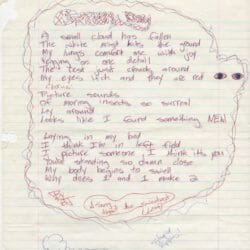Billie Joe Armstrong handwritten lyrics for Green Day