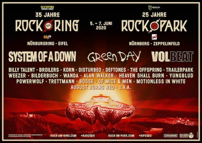 Green Day to headline Rock am Ring and Rock im Park