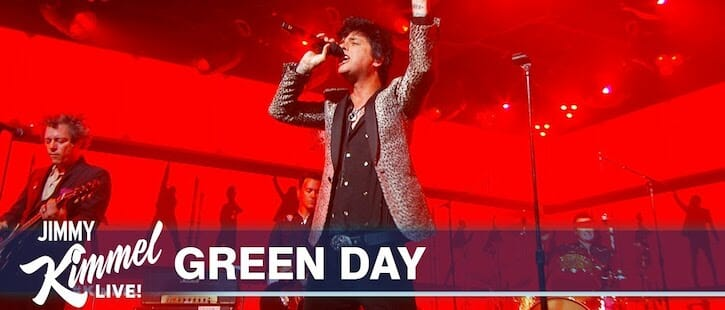 Green Day On Jimmy Kimmel Live