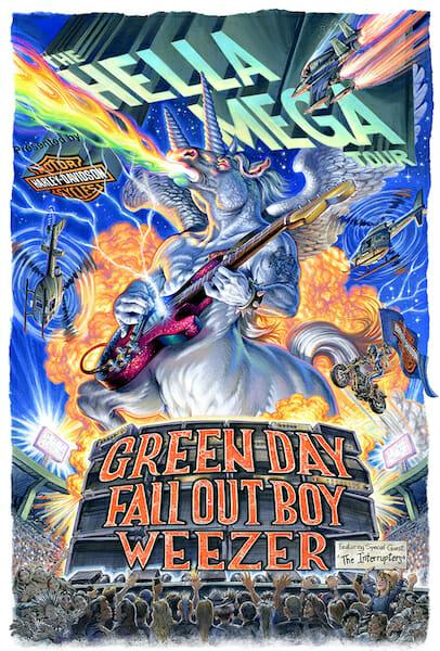 Green Day Hella Mega Tour Poster