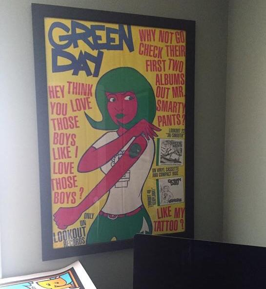 Lookout Records poster advertising first two Green Day albums