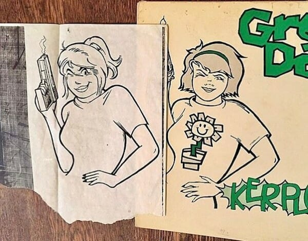 Green Day Kerplunk rejected cover drawing