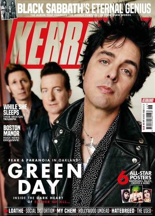 Green Day on Kerrang Magazine