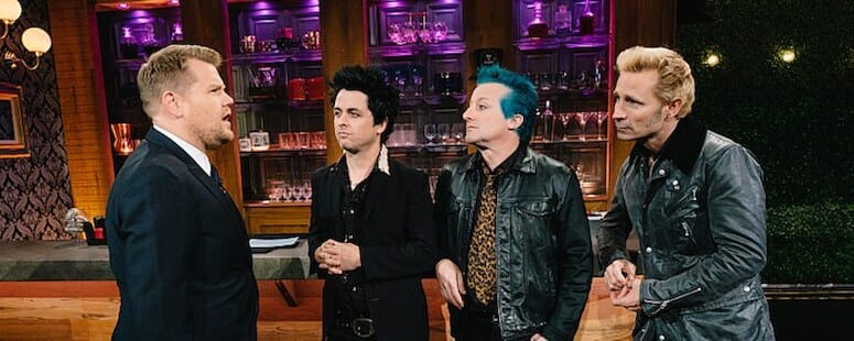 Green Day to appear on the Late Late Show with James Corden