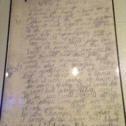 "Billie Joe Armstrong essay ""When I Grow Up"" age 9"