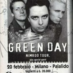 Green Day Concert Poster - 1998