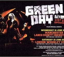 Green Day Concert Poster - 2010
