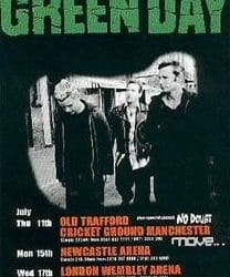 Green Day Concert Poster - 2002