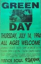 Green Day Concert Poster - 1994