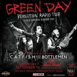 Green Day Concert Poster - 2017