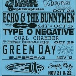 Green Day Concert Poster - 1997