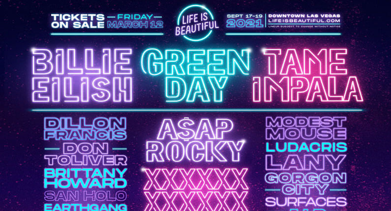 Green Day to headline Life Is Beautiful festival