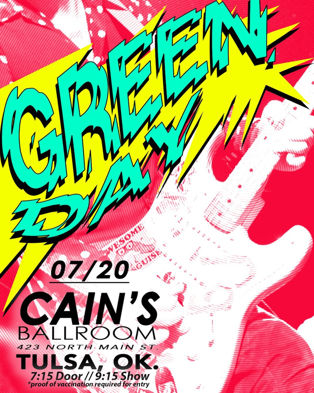 Green Day Concert Poster - 2021