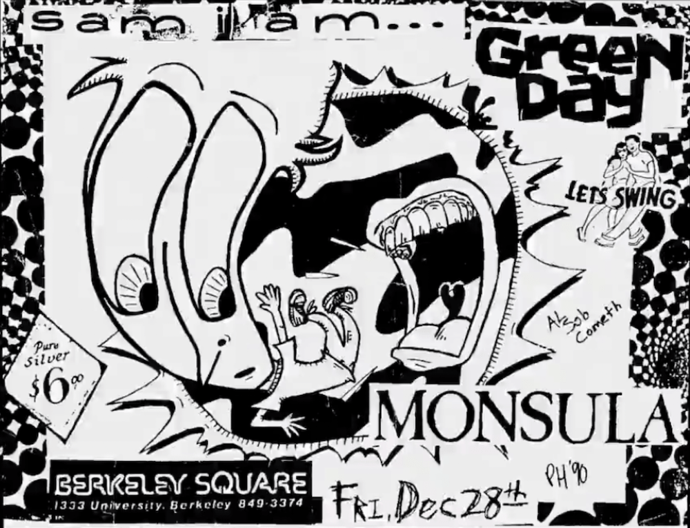 Green Day Concert Poster - 1990