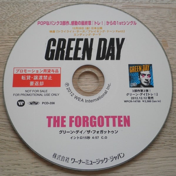 Green Day - The Forgotten single