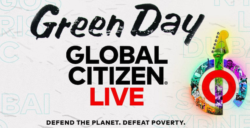 Green Day performing at Global Citizen Live